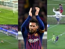 Con la zurda, con la diestra, de cabeza... los 50 goles de Messi en Copa. AFP/Dugout