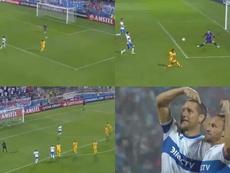 Central dejó escapar la victoria ante Universidad Católica en el último minuto. Capturas/CONMEBOL