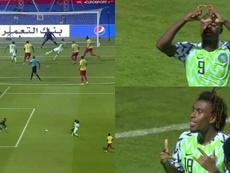 Ighalo et Iwobi à la rescousse en trois minutes. Capture/Eurosport