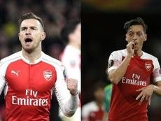 Ni Ramsey ni Özil jugarán la ida ante el BATE. AFP