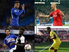 Los cuatro jóvenes talentos que el Madrid vigila para su ataque. EFE/AFP