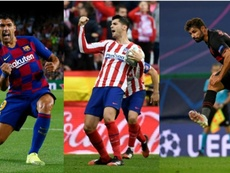¿Suárez, Morata o Diego Costa? El uruguayo arrasa. EFE - AFP