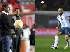 Gabi Milito quiere a Mascherano en su equipo. EFE/AFP