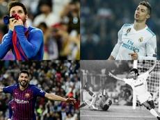 Os 10 maiores goleadores do clássico entre Real Madrid e Barcelona. EFE