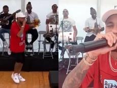 Neymar montó una fiesta en casa para celebrar. Instagram/neymarjr