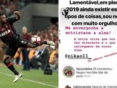 La gran respuesta de Nikao tras los insultos racistas de seguidores de River. EFE/Instagram