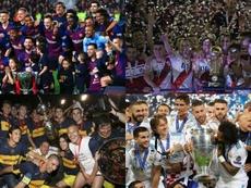 Le top 10 des clubs les plus titrés sur la scène internationale. EFE