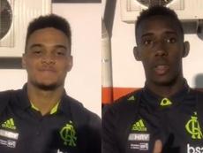 Muniz (i) y Yuri Cesar ya brillan en el Sub 20. Capturas/Flamengo