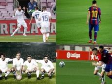 Ramos, Messi, Paco Gento e Busquets estão entre os maiore os vencedores do duelo. EFE - AFP