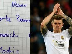 Kroos eligió su once ideal para despedirse del fútbol. AFP