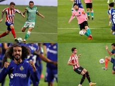 Los 15 jugadores que han disputado todos lo minutos en LaLiga 20-21. EFE