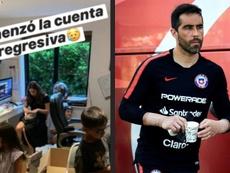 Claudio Bravo se irá en breve. Instagram/carlapardolizana/AFP