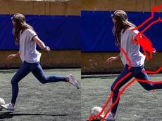 Edita la foto de la jugadora que denunció a la AFA ¡para enseñarle a tirar! @dejavu_felipe/Twitter
