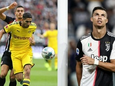 Un cohete con alma de delantero: Achraf igualó en goles a Cristiano. Montaje/AFP
