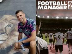La historia de Pavlovic y el Football Manager. Montaje/Instagram/AndrejPavlovic