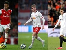 Aubameyang, Werner e Rodrigo são favoritos ao ataque do Barcelona. AFP/EFE