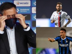 Bartomeu falou sobre Neymar e Lautaro. EFE/AFP