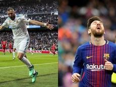 Gros duel entre Messi et Benzema dans ce Clasico. BeSoccer