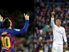 Barça e Real sendo Barça e Real. EFE/AFP