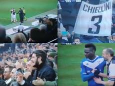 Chiellini jugó ante el Brescia. Capturas/MovistarLigadeCampeones