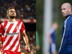 Stuani y Ortuño se enfrentan este domingo. Montaje/EFE/RealOviedo