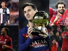 Os concorrentes de Messi pela Bola de Ouro. Montagem/AFP