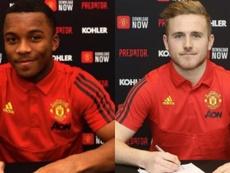 Las dos últimas promesas a las que ató el United. Montaje/ManchesterUnited
