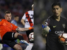 El 'Superclásico' llega a la portería de Argentina. EFE/AFP