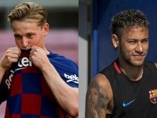 Frenkie De Jong adds fuel to the rumours linking Neymar with Barça. EFE