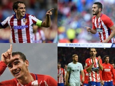 Godín, Koke, Griezmann et Juanfran, les 4 capitaines. EFE/AFP/BeSoccer