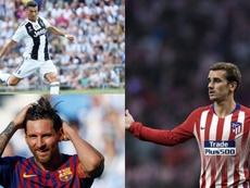Griezmann acredita que está no mesmo nível de Messi e CR7. EFE