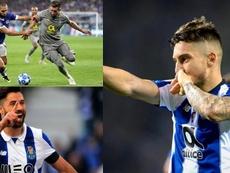 El Atleti pesca en Oporto: Herrera y Felipe, atados; Telles, a punto. Montaje/EFE