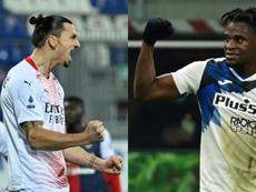 Ibra tuvo sus más y sus menos con Zapata. AFP