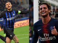Icardi et Rabiot, objectifs de United. EFE/AFP