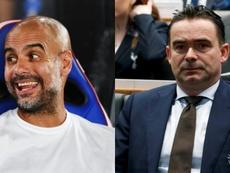 El Milan sueña con reunir a Guardiola y Overmars en su organigrama. AFP/EFE