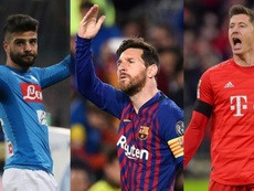 Messi, Lewandowski e Insigne están entre los delanteros top del FIFA 20. EFE/AFP