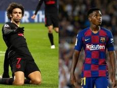 Joao Félix y Ansu Fati, las perlas de este Atlético-Barça. AFP