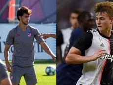 Joao Félix y De Ligt jugarán su propio partido. Montaje/EFE/AFP