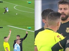Piqué was saved by VAR. Screenshot/MovistarLaLiga
