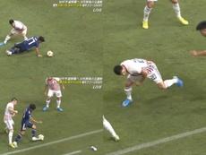 Kubo protagonizó una jugada fabulosa ante Paraguay. Captura/JFA