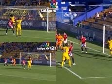Boateng protagonizó uno de los fallos del año. Captura/LaLiga1/2/3TV