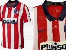 Vaza a possível nova camisa do Atlético de Madrid. FootyHeadlines