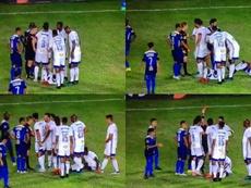 Cruzeiro intentó engañar al árbitro. Capturas/SporTV