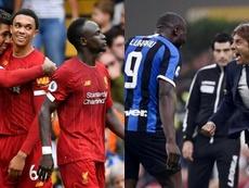 Liverpool e Inter son las máquinas de ganar en Europa. Montaje/AFP