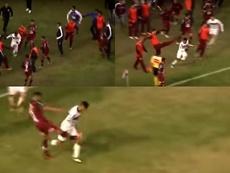 El partido de ascenso a la Serie C acabó en una batalla campal. Captura/SerieDTV