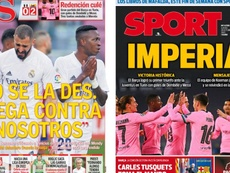 As capas da imprensa esportiva. Montaje/AS/Sport