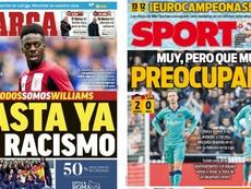 Capas dos portais Marca e Sport do dia 26-01-20. Marca/Sport