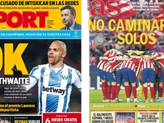 Capas das revistas Sport e AS do dia 18-02-20. Montagem/Sport/AS