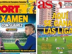 Les Unes des journaux sportifs en Espagne du 09/11/2019. Sport/AS