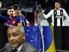Romario habló sobre los dos 'cracks'. Montaje/AFP